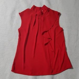NY&CO Red Sleeveless Blouse